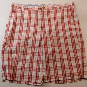 IZOD Red White Plaid Shorts Size 36
